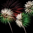 Green and white fireworks — Stock fotografie