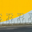 Four bicycle holders - Foto de Stock  
