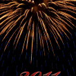 Firework 2011 — Stock Photo