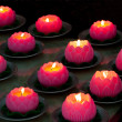 Pink candles — Stock Photo