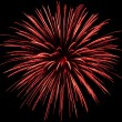 Red firework explosion - Stockfoto