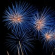 Blue firework burst - Stock Photo