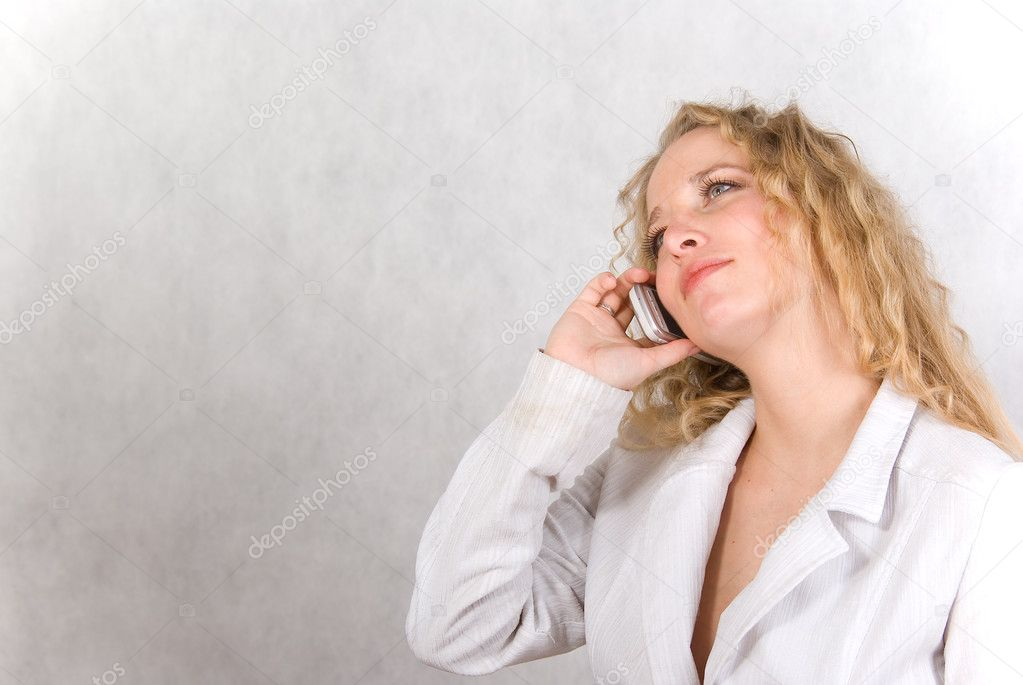 The girl speaks on a cellular telephone. — Stock Photo #2942345
