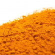 Stock Photo: Spices pile of Turmeric over white