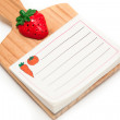 Stock Photo: Blank isolated kitchen notepad