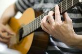 Playing guitar — Stock Photo