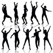 Dancing silhouettes — Stock Vector #3679779
