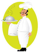 Professional chef — Stock Vector