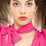 Beautiful woman hairstyle closeup — Stock Photo