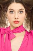 Piękna kobieta fryzura zbliżenie — Zdjęcie stockowe