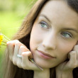 Royalty-Free Stock Photo: Young beautiful teenager with dandelion