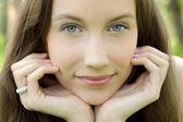 Young beautiful teenager closeup — Stock Photo