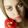 Beautiful woman with rose — Stock Photo #3752023