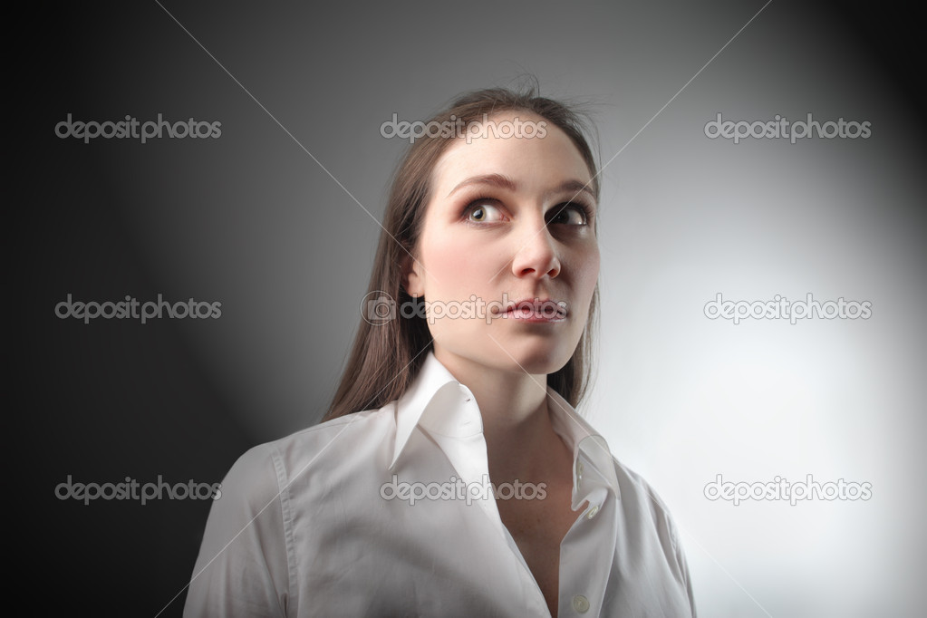 Woman with worried expression — Stock Photo #3121722