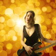 Bass player — Stock Photo #3194125