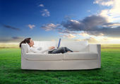 Relaxing work — Stock Photo