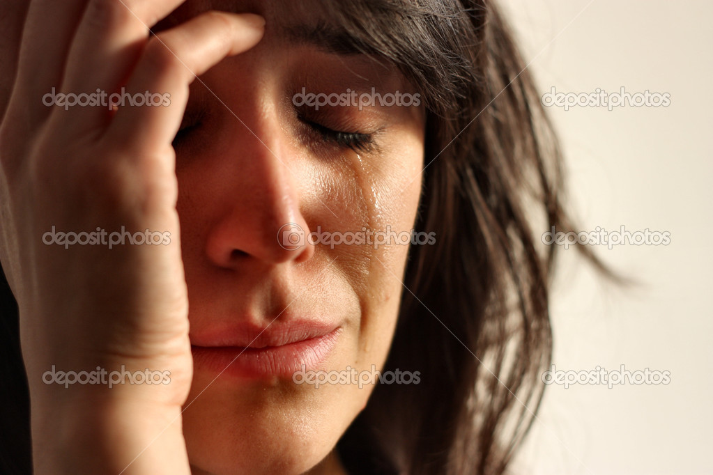 Young sad woman crying — Stock Photo #3195417