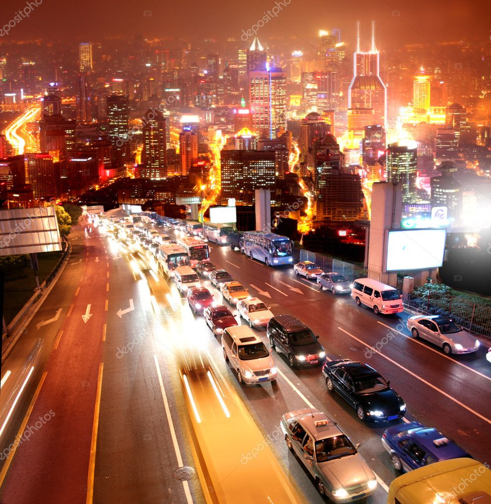 Traffic in Shanghai — Stock Photo #3195448