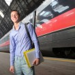 Train to school — Stock Photo