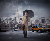 Storm in the city — Stock Photo