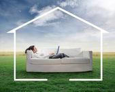 Trabalho em casa — Foto Stock