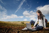 Work in the nature — Stock Photo