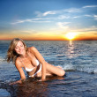 Girl in the water — Stock Photo #3231979
