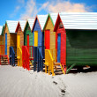 Beach huts - Stockfoto