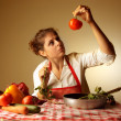 Preparing a meal - Stock Photo