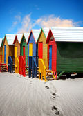 Beach huts — Stock Photo