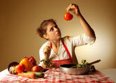 Preparing a meal — Stock Photo