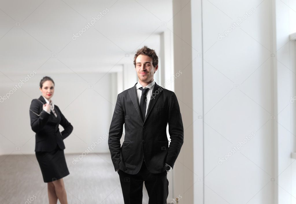 Two business at the office  Stock Photo #3381970