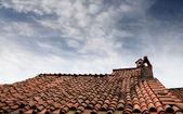 Na dachu — Zdjęcie stockowe