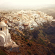 Panorama of the village of Thira on Santorini Island — Stock Photo #3857551