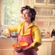 Happy housewife — Stock Photo #3857595