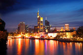 Frankfurt by night — Stock Photo