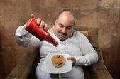 нездоровая пища — Стоковое фото