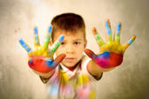 Colored hands — Foto Stock