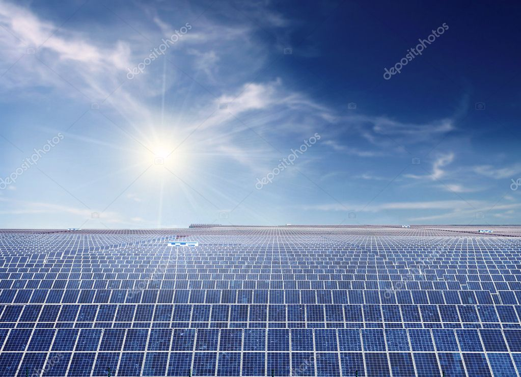 Industrial photovoltaic installation  Stock Photo #3857231