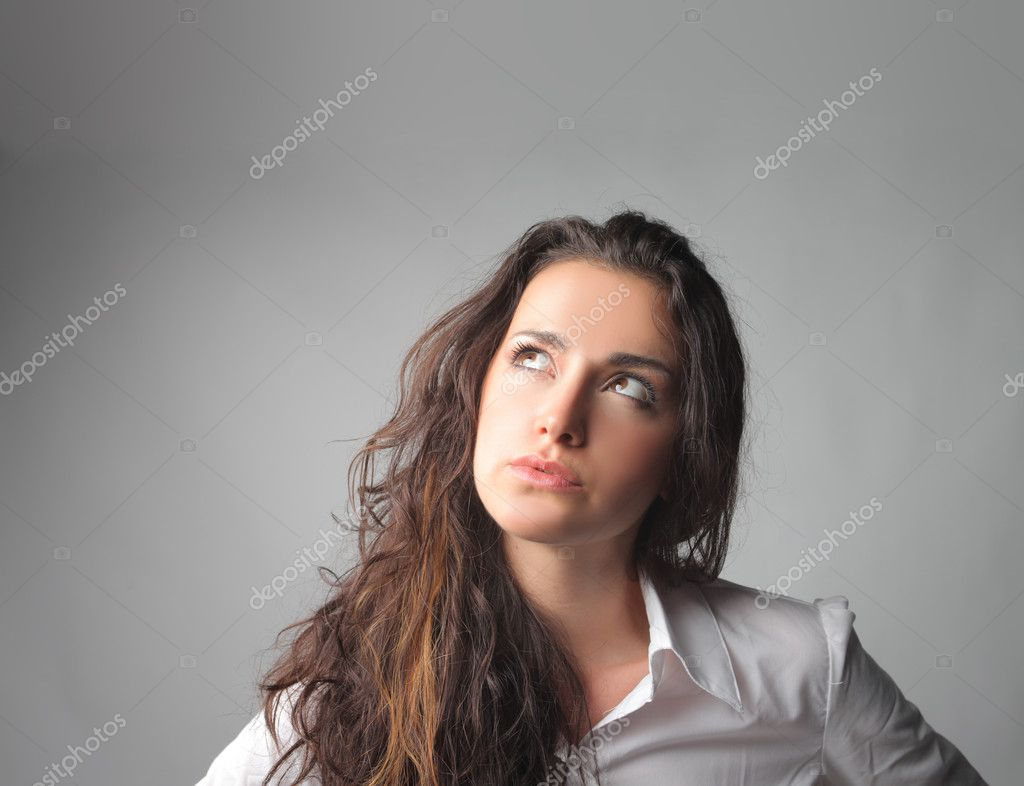 Businesswoman thinking of something — Stock Photo #3857650