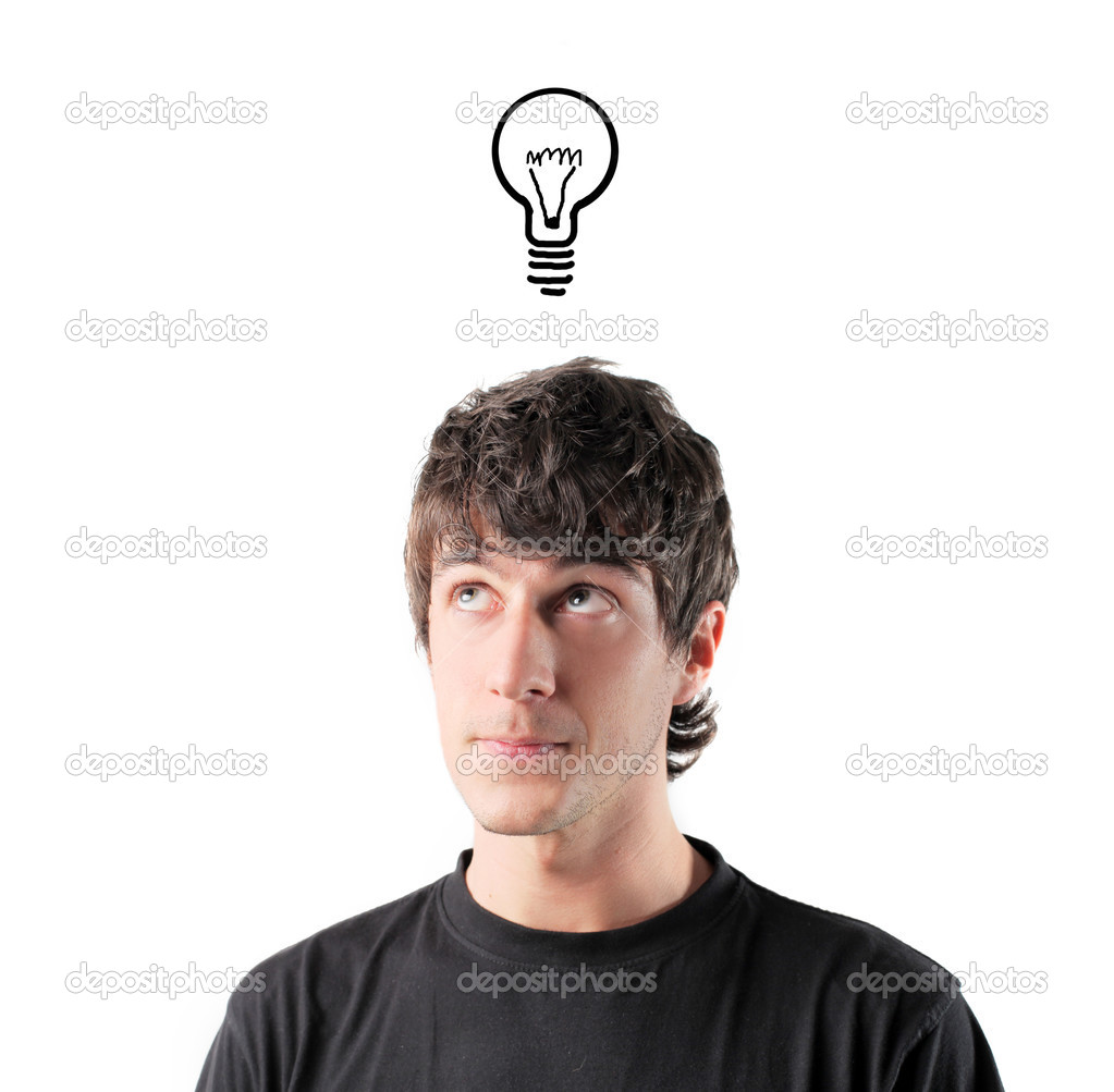 Young man having an idea  Stock Photo #3857881