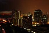 American City At Night — Stock Photo