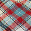 Stock Photo: Background of plaid fabric