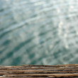 weathered wood at a harbor — Stock Photo