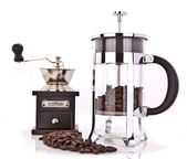 Coffee grinder and coffee — Stock Photo