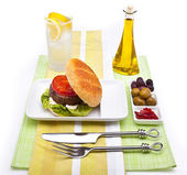 Summer Burger Meal — Stock Photo