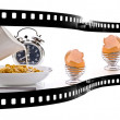 Breakfast Time film strip — Foto de Stock