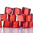 Cubes of red jelly — Stock Photo