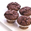 Homemade Double Chocolate Muffins — Stock Photo #3074093