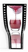 Ovocné šťávy filmový pás — Stock fotografie